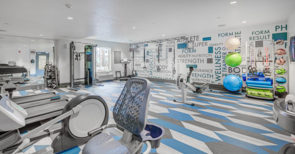 Fitness room at The Ivy at Draper Apartments
