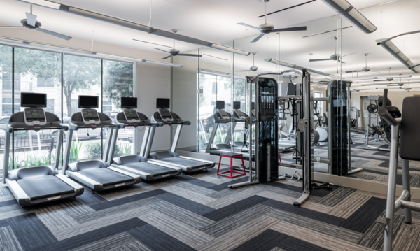 fitness center at Equinox Apartments