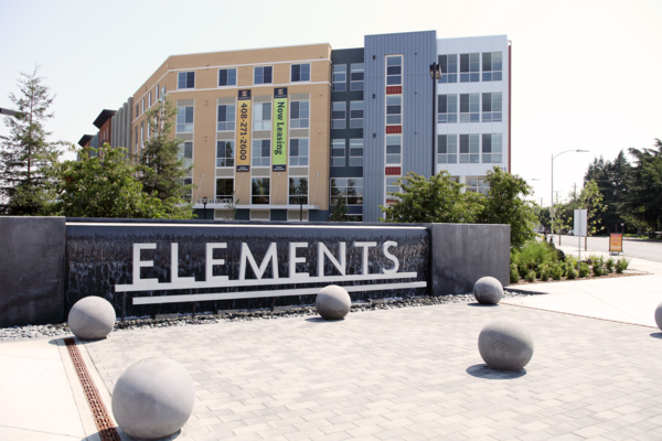 signage at Elements Apartments