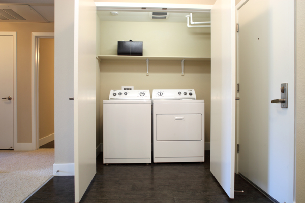 laundry room at Elements Apartments