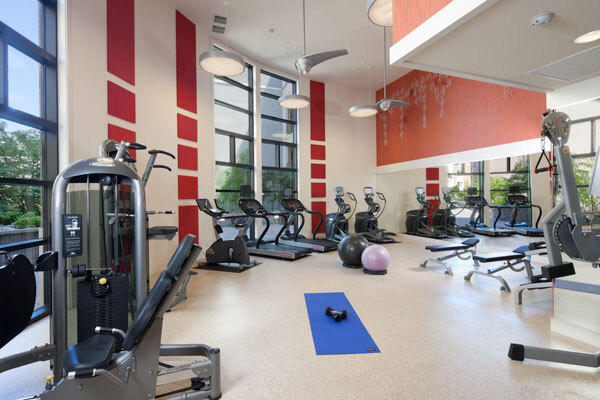 fitness center at Elements Apartments