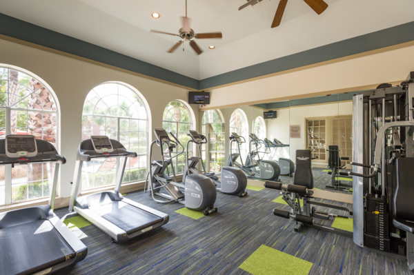 fitness center at Broadstone New Territory Apartments