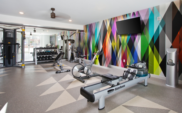 fitness center at Broadstone on 9th Apartments