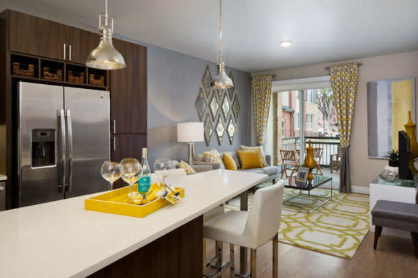kitchen at Broadstone on 9th Apartments