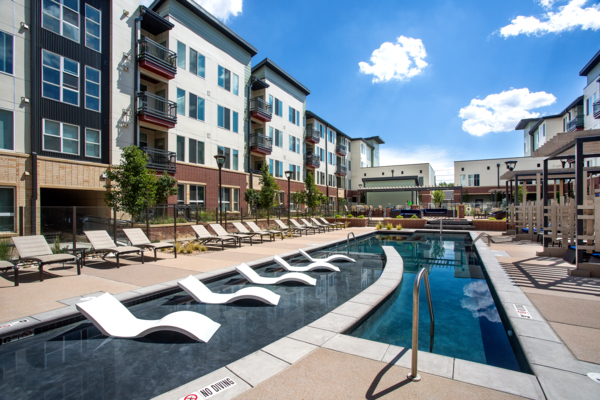 pool at Broadstone on 9th Apartments