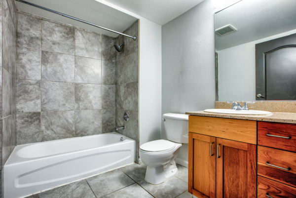 bathroom at Hillside Village Apartments
