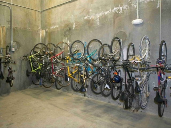 bike storage at Hillside Village Apartments