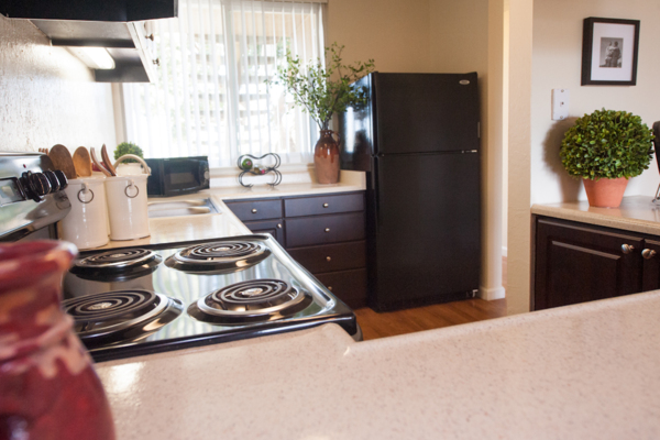kitchen at Harbor Park Apartments