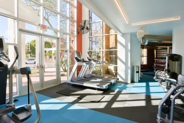 Fitness room at The Palladium Apartments