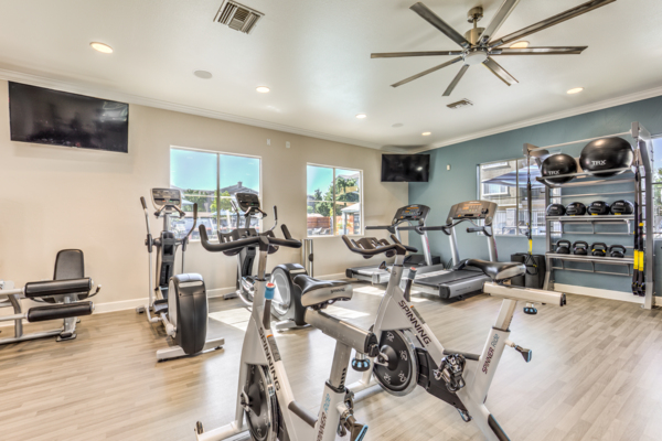 Fitness room at The Paseo at Town Center