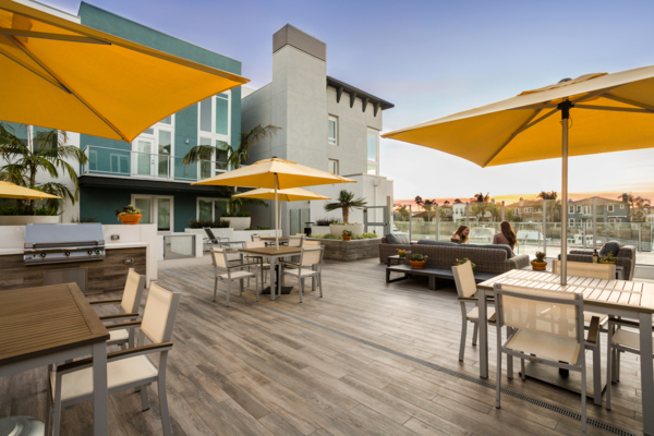 Patio at The Reserve at Seabridge