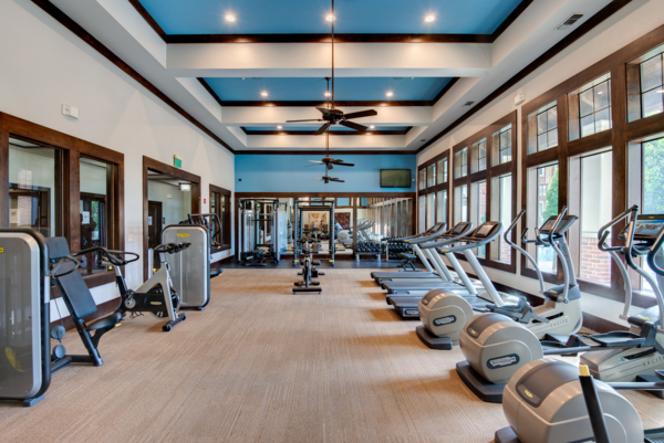 Fitness room at The Standard Apartments
