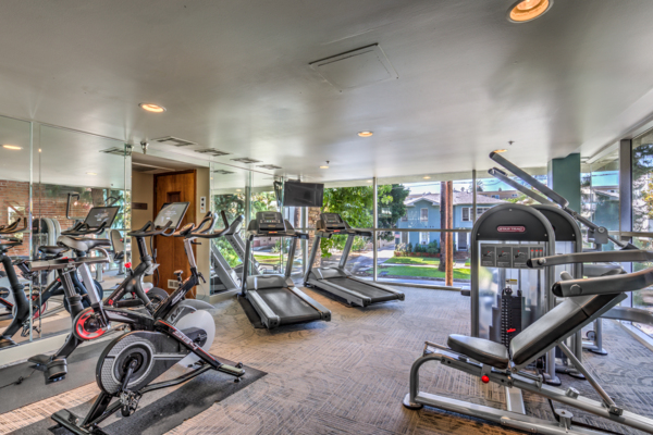 Fitness room at The Tower at Hollywood Hills
