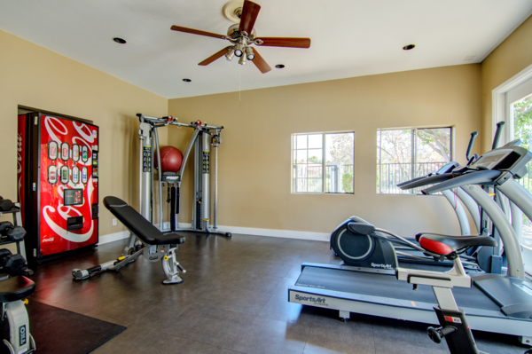 fitness center at Sunset View Apartments