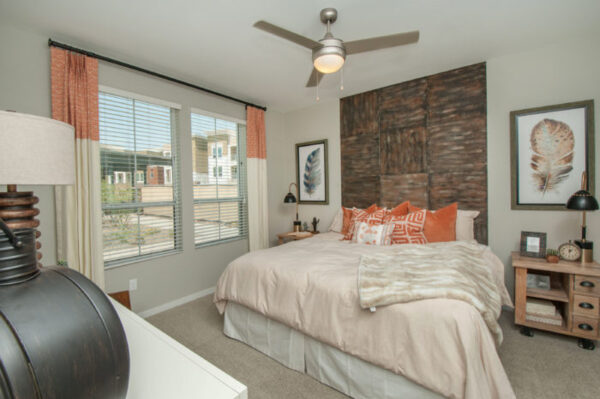 Bedroom at The Town Commons Apartments