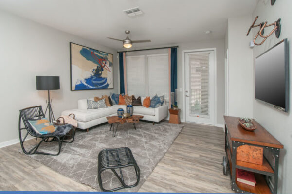 Living room at The Town Commons Apartments