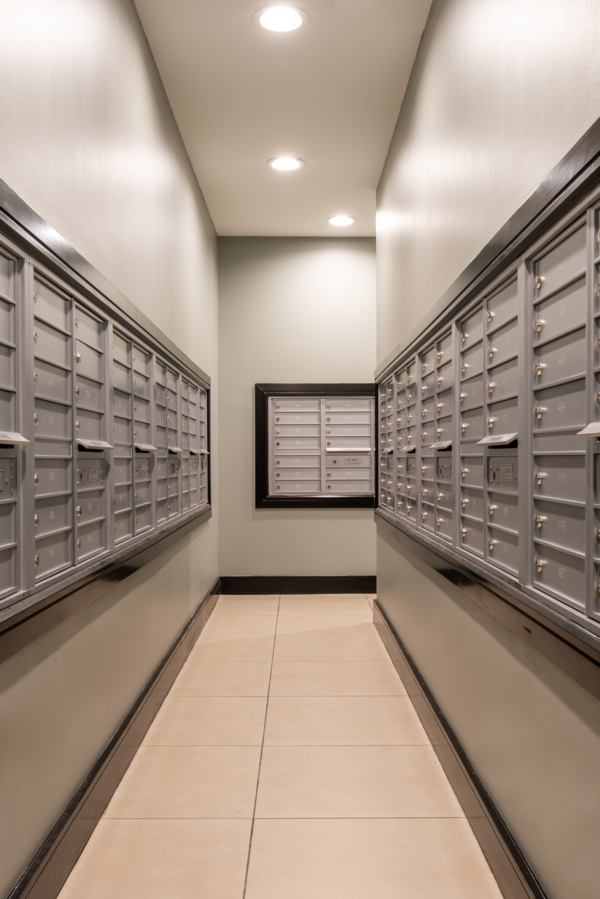 mailroom at Memorial Hills Apartments