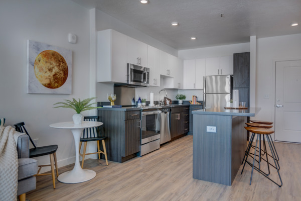 kitchen at Meridian Apartments