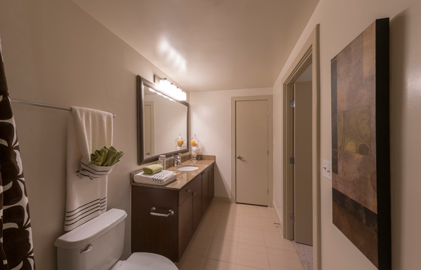 bathroom at 55 Hundred Apartments