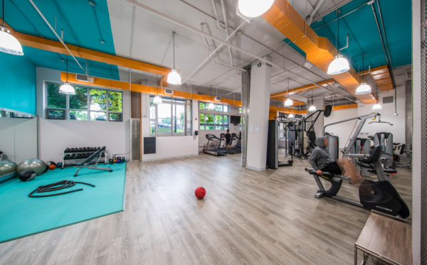 fitness center at 55 Hundred Apartments
