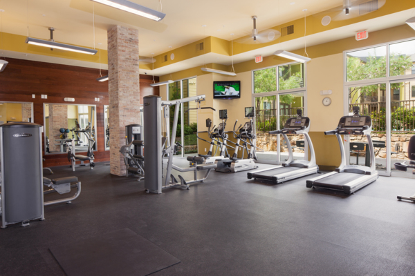 fitness center at Midtown Commons at Crestview Station