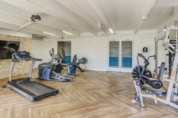 Fitness room at Uptown Square