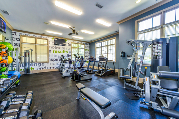 fitness center at Columns at Wakefield Apartments