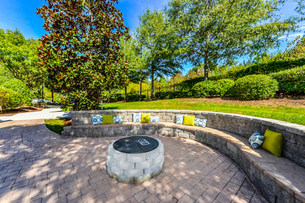 fire pit at Columns at Wakefield Apartments