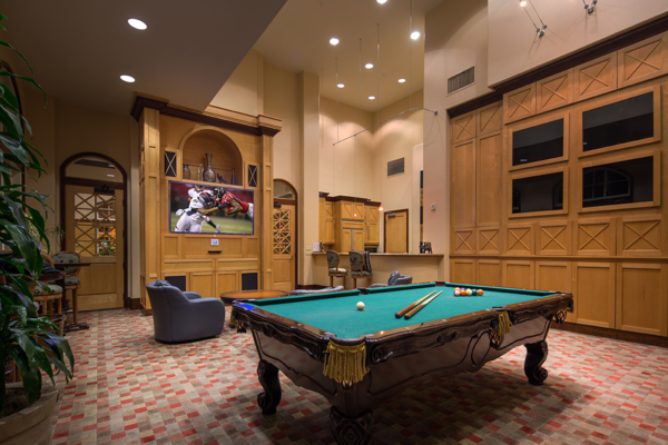 game room at Regents La Jolla Apartments
