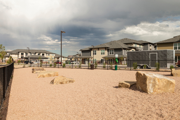dog park at Outlook Littleton Apartments