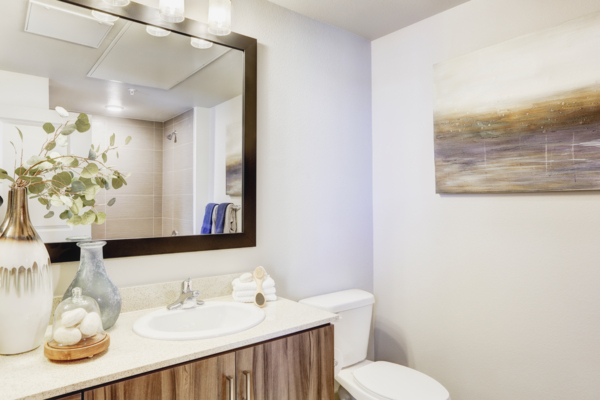 bathroom at Parq at Iliff Apartments