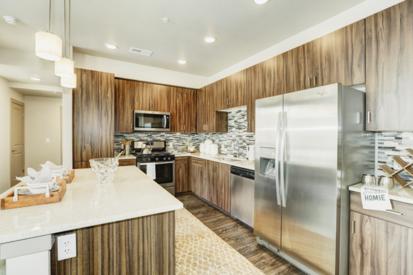 kitchen at Parq at Iliff Apartments