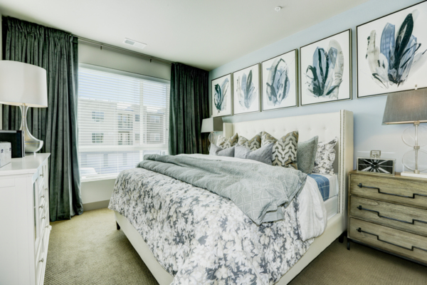 bedroom at Parq at Iliff Apartments
