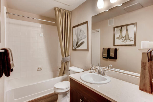 bathroom at Mountain Gate Apartments
