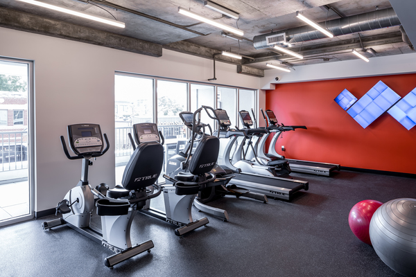 fitness room at 51 Main Apartments