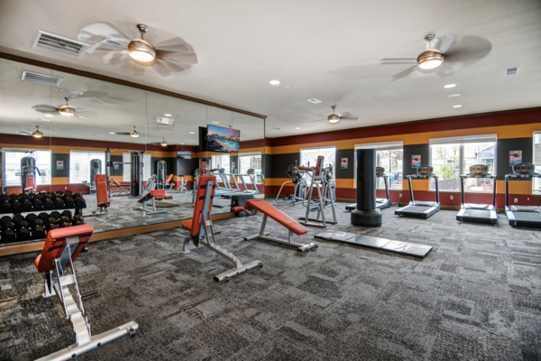 fitness center at Waterford at Southlands Apartments