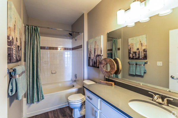 bathroom at Viridian Apartments