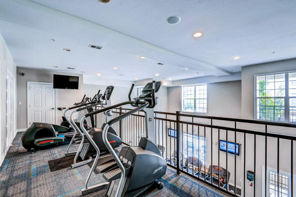 fitness center at Viridian Apartments