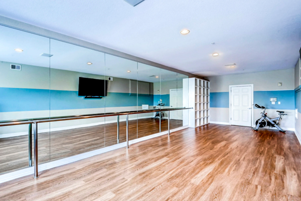 yoga/spin studio at Viridian Apartments