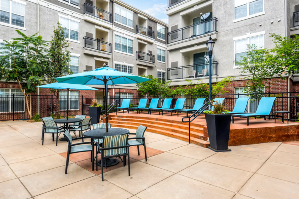 patio at Viridian Apartments