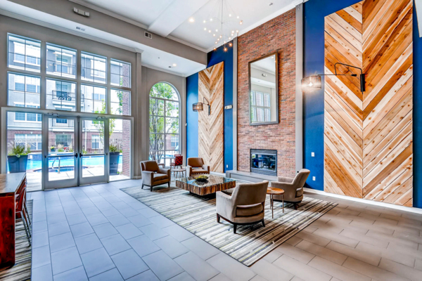 clubhouse/lobby at Viridian Apartments