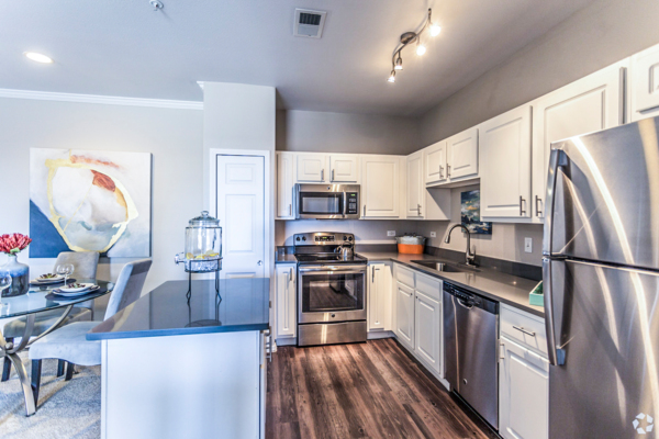 kitchen at Viridian Apartments