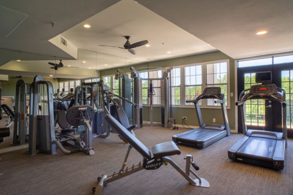 fitness center at Winsted at White Rock Apartments