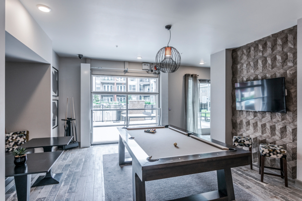 game room at The Guthrie North Gulch Apartments
