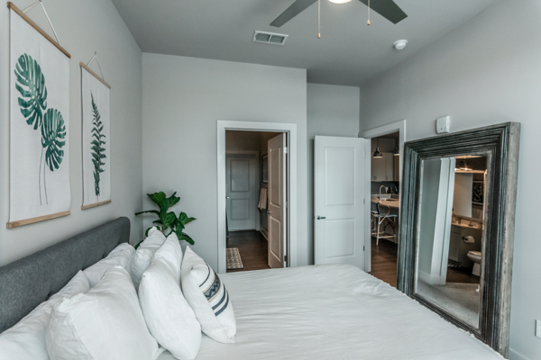bedroom at The Guthrie North Gulch Apartments