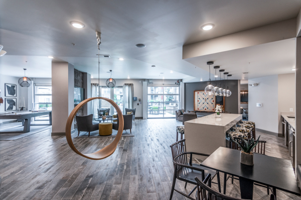 clubhouse/lobby at The Guthrie North Gulch Apartments
