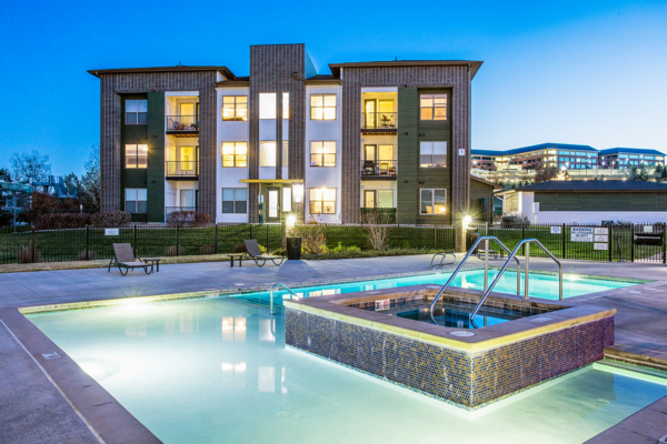 hot tub/jacuzzi/pool at RockVue Apartments