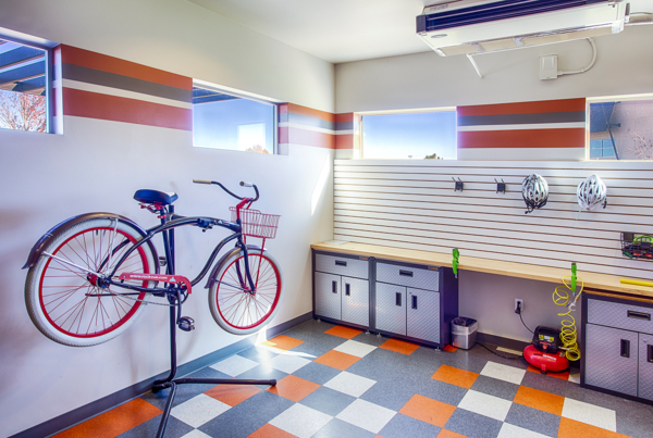 bike maintenance area at RockVue Apartments