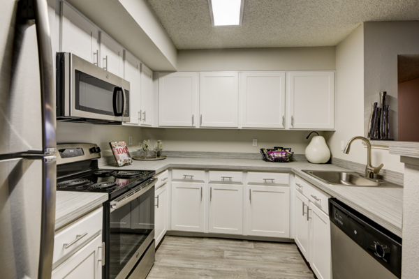 kitchen at The Hamptons Apartments