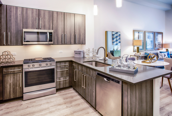 kitchen at Raleigh at Sloans Lake Apartments